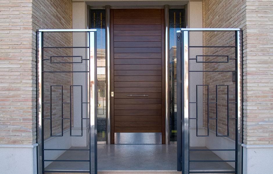 Puertas cancelas de hierro simple stunning interesting - Cancelas de madera ...