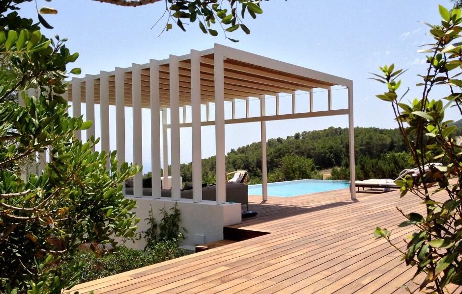 Pergola De Jardin En Ibiza Vicent Torres Carpinteria Metalica En - Pergolas-metalicas-para-jardin