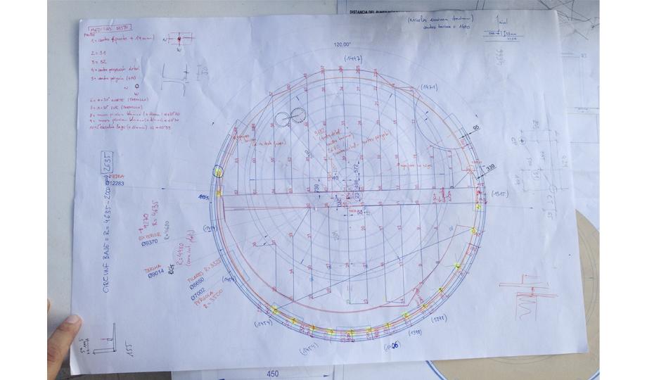 Verificación de los dato sobre el plano generado